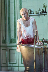 Diana Damrau as the title character in Lucia di Lammermoor, The Royal Opera © 2016 ROH. Photograph by Stephen Cummiskey (Royal Opera House Covent Garden) Tags: opera production actionshot productionphoto luciadilammermoor dianadamrau theroyalopera bykatiemitchell