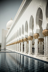 Mosque 14 (monochromia - jeremy chivers) Tags: march mosque abudhabi 2016 sheikhzayedmosque