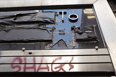 (Giovanni Stimolo) Tags: street city blue red urban reflections graffiti fuji tag streetphotography covered shag signboard urbanphotography x100s fujifilmfinepixx100s urbanreportage