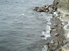 Lago y rocas 4 (imageneslibres) Tags: naturaleza sol lago agua olas rocas piedras celeste espuma marea