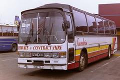 TRAVELWISE LARNE 6677LJ (bobbyblack51) Tags: volvo all transport ii 1995 types dominant troon stranraer dodds larne travelwise duple of goldliner b10m61 6677lj