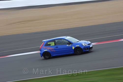 Harry Gooding in the BRSCC Fiesta Junior Championship at Silverstone, April 2016