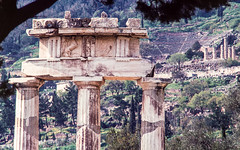 Slides Box 4 1978 Greece-68 (alh1) Tags: spring delphi greece 1978 slides transparencies copies tholos box4 agfact18film