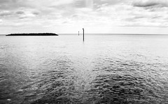 --=====---i-I------------- (Rick Hathaway - rhfo2o) Tags: sea sky blackandwhite bw beach clouds canon mono seaside westsussex elmer bognorregis seadefences elmersands canoneos7d rhfo2o