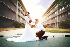 Wedding (Phn Chua) Tags: school wedding sunset portrait people woman white man beauty amazing women couple dof pentax sigma vietnam suit cannon 6d 35art