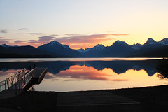 (Tom Roadcap) Tags: sunset mountains reflection dock parks national