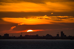 Arriving Malm, Sweden (werner boehm *) Tags: sky sunrise sweden malm sonnenaufgang wernerboehm