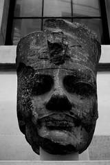 Egyptian Head (Nicol Bernardi) Tags: england blackandwhite bw london art tate egypt tatemodern egyptian egyptianart pharaonhead