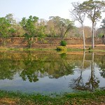 Moat next to the Southern Gate of the ancient city of Angkor Thom near Siem Reap, Cambodia thumbnail