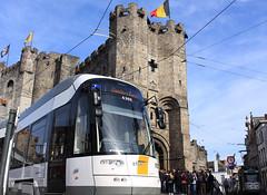 Flexity 2 6360, Sint-Veerleplein, Ghent (Tetramesh) Tags: belgium belgique belgie belgi tram ghent gent gand flanders belgien belgio delijn blgica gwladbelg vlaanderen oostvlaanderen belgia leiestreek blgica eastflanders belga 6360 belika belgicko beija belgija belgjik belju blxica anbheilg  tetramesh b    ubelgiji