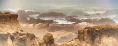CAMBRIA (Irene2727) Tags: ocean nature water fog landscape coast rocks waves cambria caifornia sunrays5