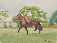 DSCF7303_low (RafaelSan) Tags: horse watercolor criollo caballo acuarela gaucho