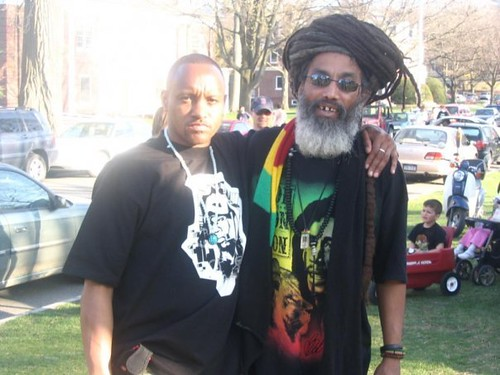 Me and Manu from The Black Rebels