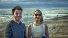 Tom & Ella (emptyseas) Tags: ocean usa beach tom sand nikon florida ella cocoa d800 emptyseas