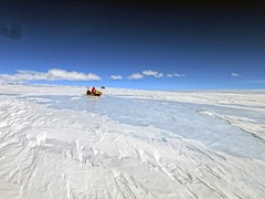 Meteorite Hunting in Antarctica (sjrankin) Tags: ice edited antarctica nasa meteorite icefield 18april2016