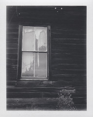 Bodie Window (Celina Innocent) Tags: california blackandwhite film window polaroid fuji decay pack land instant ghosttown bodie polaroidweek 3000b