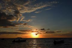 West End - Ocean Sunset (Drriss & Marrionn) Tags: ocean travel sunset sea sky cloud seascape beach nature night island nightshot outdoor honduras diving tropicalisland caribbean serene westend centralamerica roatn caribbeanisland mesoamericanbarrierreef scubadivingcaribbeansea