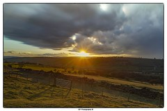 Snow Cloud Sunset (Graham Peers) Tags: sunset snow weather wales clouds landscape framed