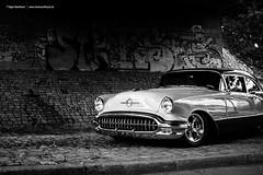 1956 oldsmobile BW (Dejan Marinkovic Photography) Tags: blackandwhite bw classic 98 chrome american sw 50s 1956 olds oldsmobile