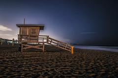 Off Duty (hitmanfre1) Tags: ocean california longexposure beach cali losangeles sand nikon long exposure moody angle pacific wide wideangle lifeguard tokina southern socal manhattanbeach nikond3200 d3200