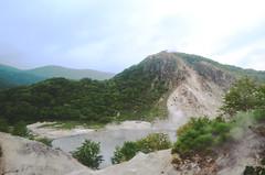 volcanic lake (_cherylh) Tags: travel mountain lake nature water japan landscape volcano nikon hokkaido outdoor noboribetsu nikond5100