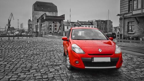 Nordhafen Stralsund and a Red Car