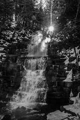 Orleans falls (runningman1958) Tags: winter blackandwhite bw sun mist nature water nikon falls desaturation 365 sunbeam sunray winterscene wintermist 365dayproject d7200 nikond7200 orleansfalls