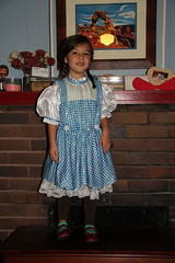 Dorothy standing on a box (Aggiewelshes) Tags: halloween dorothy october halloweencostume jovie 2015 edithbowen