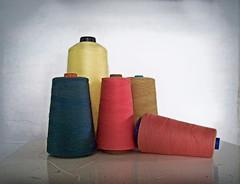 vintage thread spools (fantazya fantazies) Tags: colors thread spools vintage bobbins 201507