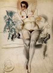 Motyleva Valentina, actress, the second wife of the artist, 1920 // by Yury Annenkov (mike catalonian) Tags: 1920s portrait female painting nude russia fulllength 1920 yuryannenkov
