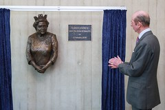 HRH The Duke of Kent unveils the statue of Her Majesty the Queen at The Forum Southend-on-Sea (SouthendBC) Tags: kent duke southend theforumsouthendonsea