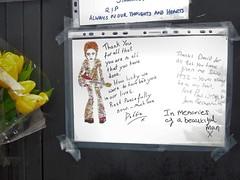 David Bowie tribute, Brixton, London (Paul-M-Wright) Tags: uk chris england david london wall painting paul bowie store mural shrine artist south picture warren wright fans debbie tributes aladdin department brixton ziggy stardust sane morleys batstone