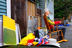 I Rock! (eddi_monsoon) Tags: portrait selfportrait self garbage alley 365 selfie threesixtyfive fujix100s