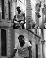 [La Mia Citt][Pedala] con il BikeMi (Urca) Tags: portrait blackandwhite bw bike bicycle italia milano bn ciclista biancoenero bicicletta 2015 pedalare dittico bikesharing nikondigitale bikemi ritrattostradale 795130
