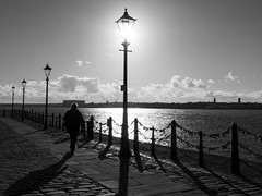 DSCF0414 (Neil Johansson LRPS) Tags: uk light england urban blackandwhite bw white black water monochrome silhouette liverpool dark photography photo noir fuji shadows northwest streetphotography photograph shade fujifilm cinematic lowkey x30 filmnoir merseyside lampposts fujifilmx30