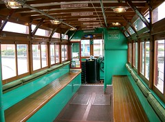Birkenhead-Tramway-Wirral-HongKongReplica-InsideDownstairs-CIMG2735 (citytransportinfo) Tags: tram birkenhead merseyside wirral tramcar inside downstairs lowerdeck longitudinalseating wirraltramway streetcar historic birkenhead69