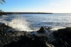 splash 2 (heartinhawaii) Tags: ocean sunset sea nature hawaii coast seaside rocks pacific tide shoreline maui splash oceansplash 808 lavarocks rockyshoreline ahihicove seasplash southmaui rocksandsea nikond3300 mauiinnovember ahihinaturereserve