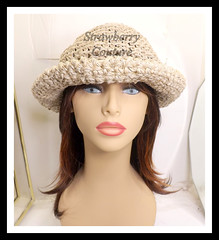 Natural Crochet Hat Womens Hat, Summer Hat for Women, Crochet Wide Brim Hat Women, Natural Hat, MONCHERIE (strawberrycouture) Tags: summer hat cord strawberry women natural crochet wide womens couture hemp brim