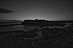 Monochrome HDR (P.J.S. PHOTOGRAPHY) Tags: monochrome abbey sunrise whitby hdr
