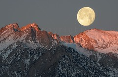 Moonset Over Mount Russell (14,094') (Sierralara) Tags: california park camping light wild usa mountain mountains beauty rock pine america john outdoors photography nikon scenery adams hiking united nevada alabama canyon sierra hills climbing kings national backpacking lone states wilderness sierras discovery range muir discover ansel sierralara