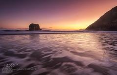 Ballotarise (AleshaOleg) Tags: ocean sunset sea seascape beach sunrise mar spain sand rocks long exposure waves fuji asturias playa llanes fujifilxt1