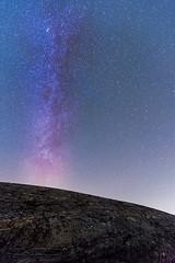 The sky (johanbe) Tags: longexposure light sky mountain color berg rock stars nikon sweden astrophotography sverige klippa vstkusten kunglv stjrnor vintergatan milyway stjrnhimmel d7200