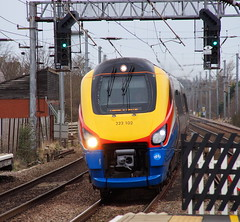 East Midlands Trains 222102 passing through Flitwick (Mark Bowerbank) Tags: trains east passing through midlands flitwick 222102