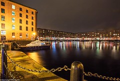 Albert Dock at night (9 of 19) (andyyoung37) Tags: uk longexposure england water night liverpool reflections boats cityscape unitedkingdom gb albertdock merseyside
