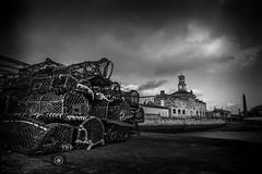 Ramsgate Lobster Pots (dattenphotos) Tags: uk sea england blackandwhite bw building water museum kent fishing pots shore lobster ramsgate thanet ramsgateharbour ramsgateroyalharbour