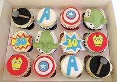 Thor & Avenger Themed Cupcakes (A Cherry On Top Scotland) Tags: birthday wedding cake wow cupcakes fife flash spiderman ironman batman hulk pow thor burntisland avenger cherryontop clairesara avengerthemedcupcakes vowswinner2015