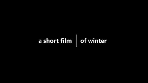 Short film of Winter and a Frozen Lake