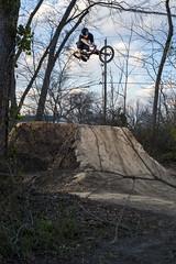 Drew Jackson (KyleKisling) Tags: nikon bmx fullframe fx actionphotography pocketwizards vivitar285hv d700 bmxtrails bmxphotography
