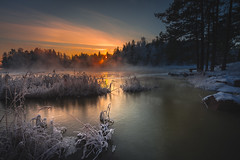 Beauty of Winter (Jyrki Salmi) Tags: winter sunset snow ice finland evening nikon nikkor jyrki kotka d600 1635mm salmi langinkoski