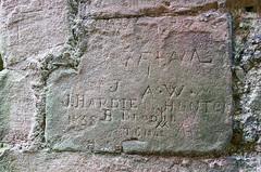 Grafitti, Crichton Castle (wwshack) Tags: lothians historicscotland crichtoncastle